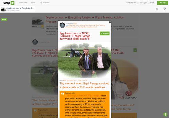 flygcforum.com ✈ NIGEL FARAGE ✈ Nigel Farage survived a plane crash ✈