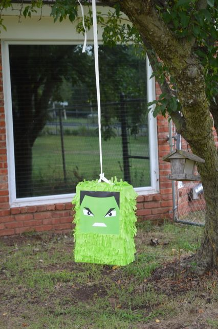 Ethan's Hulk Inspired Birthday Party! | CatchMyParty.com- Pinata