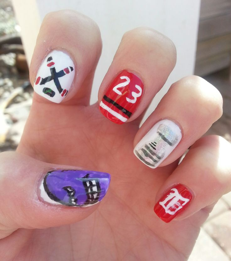 49 best detroit red wings nails hair and makeup images on detroit red wings 23 years in the playoff nails prinsesfo Choice Image