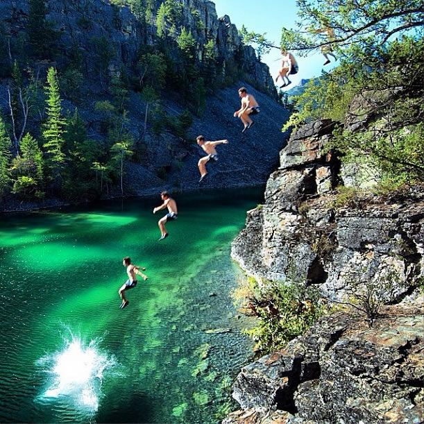 """Silver Springs Silvers: """"Cliff Jumping At Silver Springs In The Town Of Elko, BC"""
