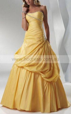 Ball Gown Sweetheart Floor-length Taffeta Natural Formal Dresses gt3303