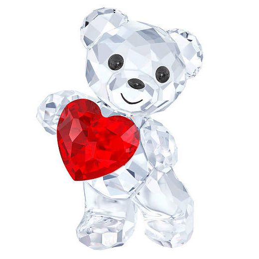 Make your special someone a lovely gift for Valentine's Day this year: This gorgeous crystal teddy bear carrying a heart by Swarovski.