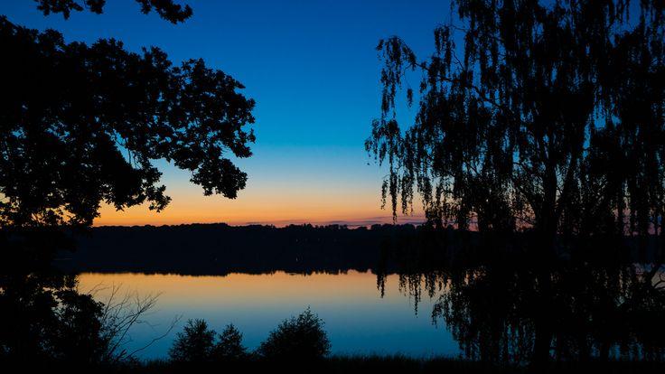 Sundown over Bagsværd Sø.