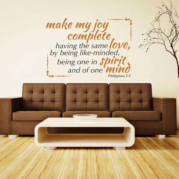 Philippians 2:2 religious wall decor | Divine Walls