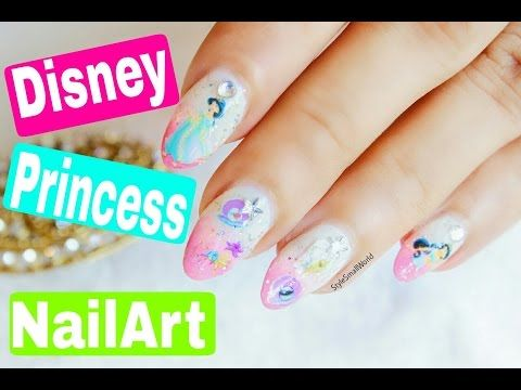 The Easiest Disney Princess Nail Art | Disney Jasmine Nails Designs | Style Small World - http://47beauty.com/nails/index.php/2016/08/18/the-easiest-disney-princess-nail-art-disney-jasmine-nails-designs-style-small-world/ http://47beauty.com/nails/index.php/nail-art-designs-products/  Hey guys! In this Video I'll showing you the easiest way to do Disney Princess Nail Art. No painting, No stamping. I love how cute they are looking on my nails.  Give a thumbs up if you fi