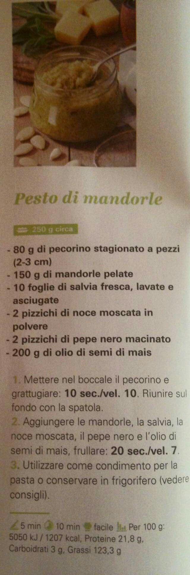 Pesto mandorle