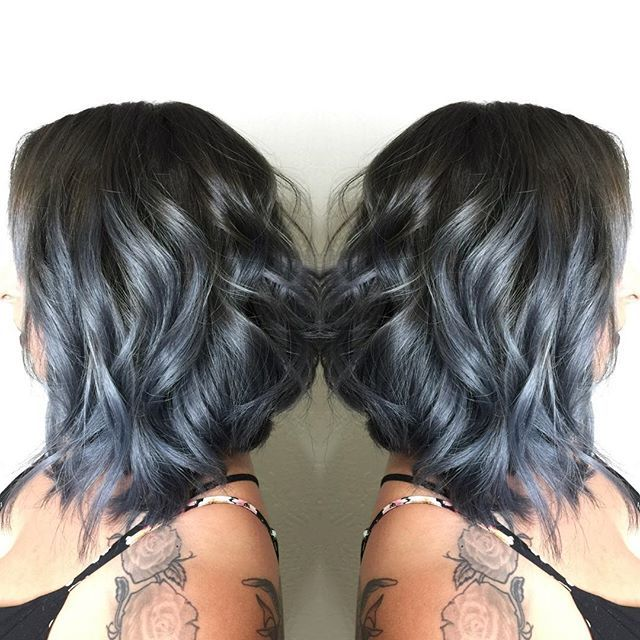 #mulpix Cool denim lob  Done by stylist : Tiffany @hotseat_styled.by.tiffany @hotseat_styled.by.tiffany @hotseat_styled.by.tiffany  Tiff used a 4-13, 5-0, and a hit of 1-0 to create this cool base smudge from  #schwarzkopf and toned the prelightened ends with Titanium from  #joicointensities. Then glossed over that with 6t from  #redkenshadeseq ! What a hot way to do silver!! Tag anyone who would love this look!   #Hotseat  #hotseatgirl  #californiahair  #silverhair  #denimsilver  #longb...