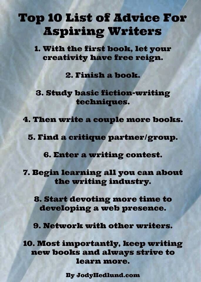 Custom writing tips from authors
