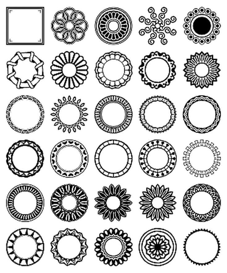 Free Circular Border Shapes for Photoshop and Elements: Circular Design Custom Shape Set 4