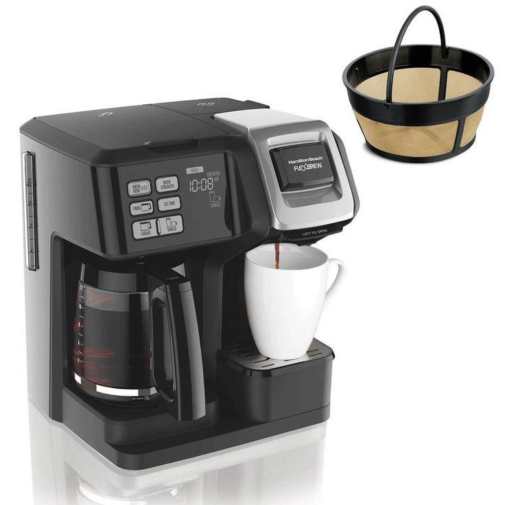 Hamilton Beach Flexbrew Programmable Coffee Maker And Cupcake Permanent Coffee Filter 49976 80675r In 2020 Coffee Maker Machine Coffee Maker Coffee