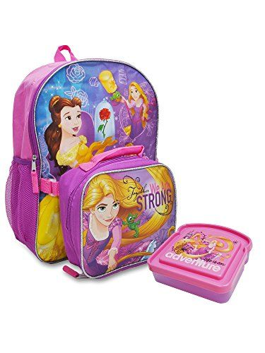 ba6fd1cfae1 Great for Disney - Princess 16 Backpack Lunch Bag Sandwich Container  Rapunzel 3 piece set online.   22.99  nanaclothing from top store