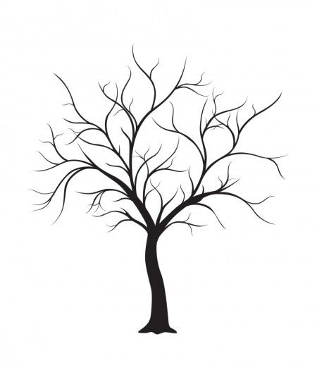 free wedding thumbprint tree style guest book