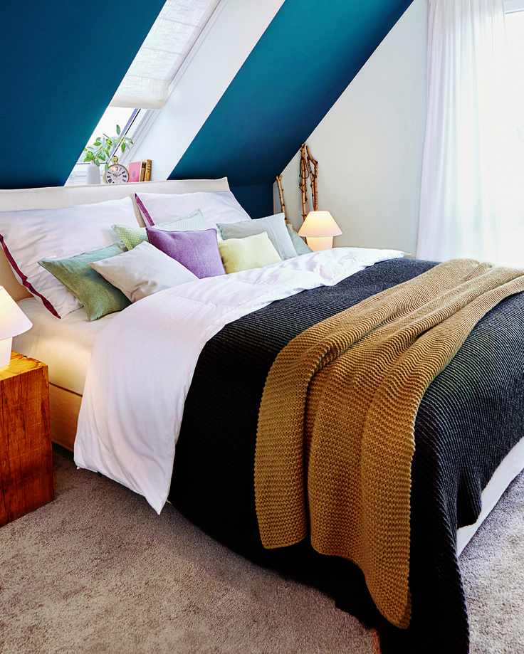 89 best Leben unterm Dach - Wohnen mit Dachschrägen images on - schlafzimmer mit dachschräge gestalten