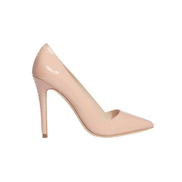 Alice + Olivia Rose Tan Dina Patent Heel ($295) ❤ liked on Polyvore featuring shoes, pumps, neutral, high heel pumps, tan shoes, high heel shoes, tan high heel shoes and leopard print shoes