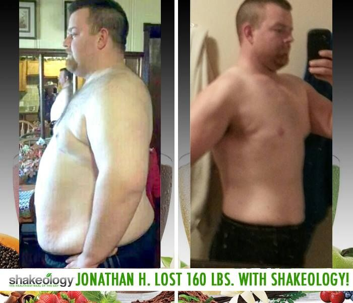 "Shakeology reviews: Jonathan H. lost 160 lbs while drinking Shakeology and working out with P90X! He said: ""I no longer use my inhaler or nebulizer, I can sleep soundly as well without my C-pap! Shakeology made my life so much better, eating habits as well as health!"" http://www.onesteptoweightloss.com/shakeology-results #ShakeologyResults"