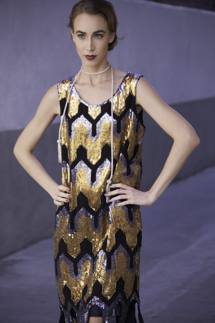 Our modern, metallic Metro Dress