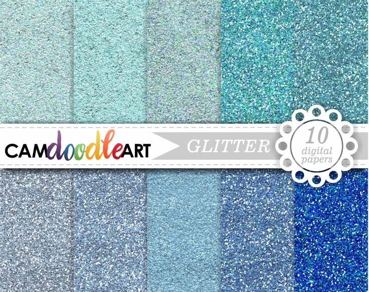 Glitter Digital Paper Pack, Glitter Scrapbooking Paper, Blue and Turquoise Glitter, Cardmaking, Glitter Texture by CamDoodleArt on Etsy