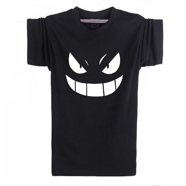 Pokemon Gengar Black Anime T Shirt