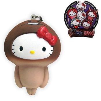 Sanrio Hello Kitty x Nameko Growing Mushroom Squishy Mascot Cell Phone Strap (Nameko)