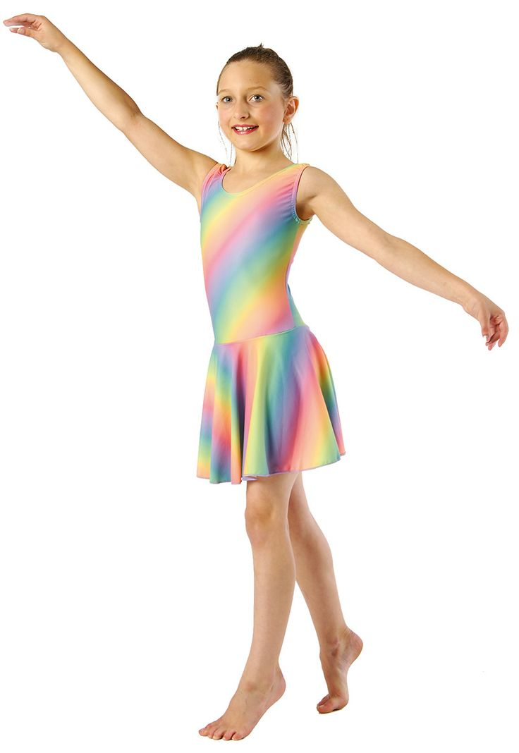 This lyrical dress is made fully out of nylon elastane and therefore an ideal costume for younger ones as you don't have to worry about them wearing delicate georgette. This costume is so colourful and pretty!
