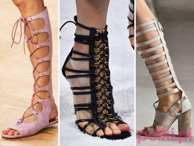 Sandały rzymianki lato 2015 - Moda lato 2015 - Trendy sezonu - Dodatki - Moda - Polki.pl
