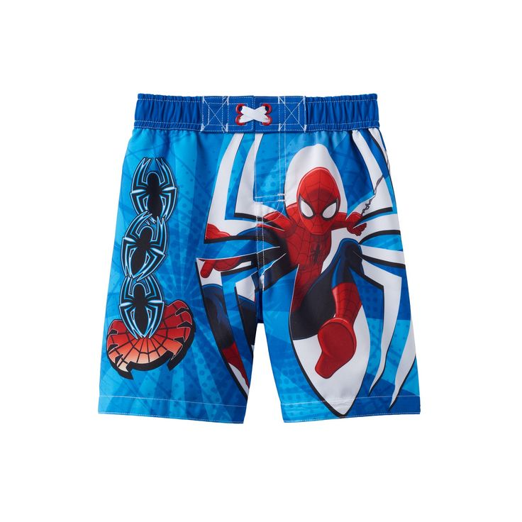 Toddler Boy Marvel Spider-Man Swim Trunks, Size: 2T, Blue