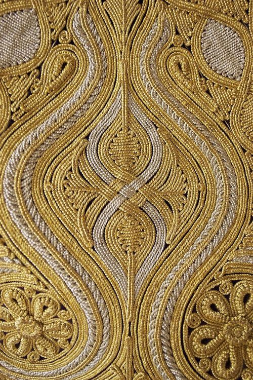 Detail of gold embroidered work on vest Pirpiri, Ottoman, late...