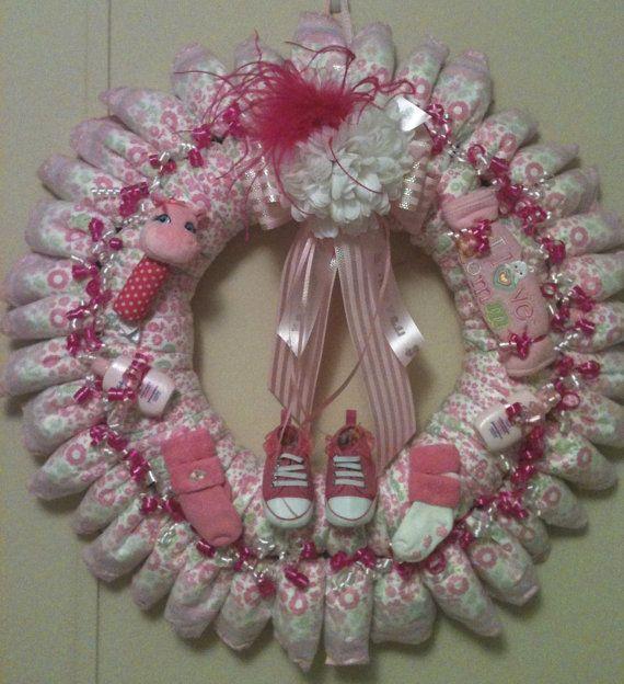 Corona de pañales bebé niña por dorenetx en Etsy