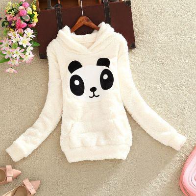 """Color:panda.blue ear rabbit.glasses rabbit. Size:S.M.L.XL. Size S: Length:59cm/23.01"""".Bust:90cm/35.10"""".Sleeve length:57cm/22.23"""".Shoulder:38cm/14.82"""". Size M: Length:61cm/23.79"""".Bust:94cm/36.66"""".Sleev"""