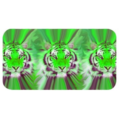 Green tiger heads