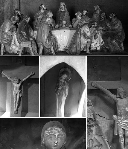 Santos, tallas religiosa, crucifijos, vírgenes.  Antigüedades, Carroza.