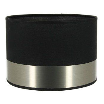 Abat-jour Silver, 20 cm, tissu, noir | Leroy Merlin