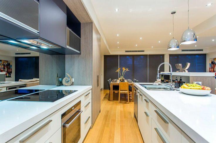 Custom built gallery kitchen.