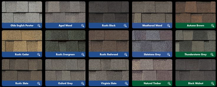 Unique Architectural Shingles Colors  With Shingle Colors