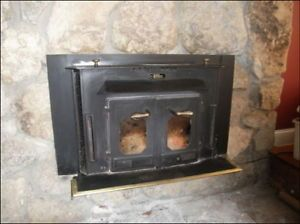 Buck Wood Stove Fireplace Insert Vintage 27000 Double Doors For H