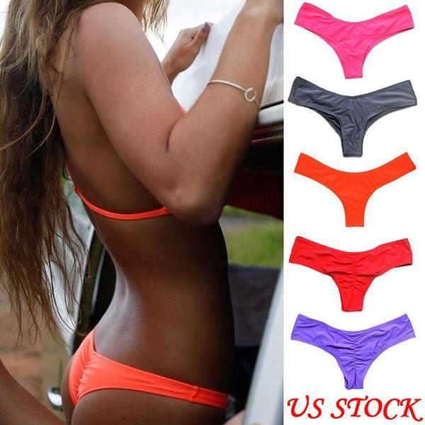 f968ab103ab #FASHION #NEW 2018 Hot V shape sexy swimwear women brazilian bikini bottom  thong tanga panties underwear beach biquini bather swimsuit