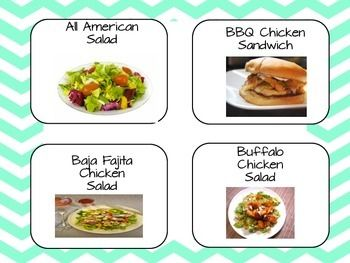 This fun lunch count chart is both beautiful and functional. It provides 9 slides of realistic lunch choice pictures, 4 choice cards, and a sign to hang on your bulletin board. Even the youngest students and ELLs can look at the picture of the lunch choices before making a selection.