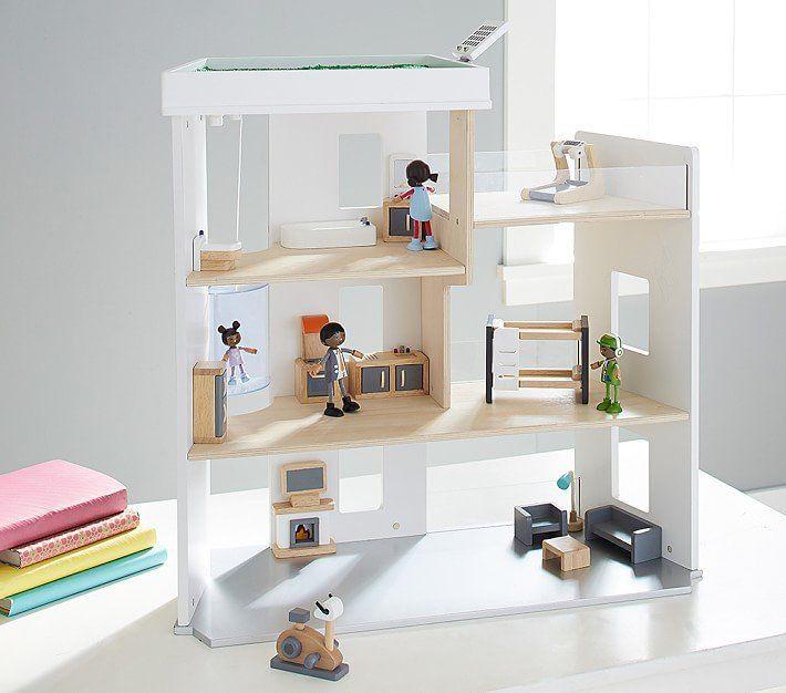 Neste post vou mostrar a vocês as casinhas de bonecas mais maravilhosas do mercado. Algumas chegam até a compor a decoração, enfeitando o ambiente. Vamos lá?   Essa é a Pottery Barn Presidio DollHouse