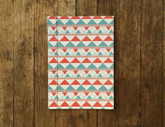 Japanese Bound A6 Notebook 'Longbow' geometric by TellThemStories
