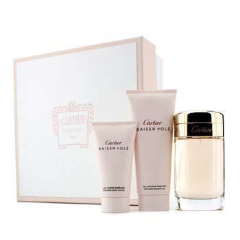 Baiser Vole Coffret: Eau De Parfum Spray 100ml/3.3oz + Shower Gel 100ml/3.3oz + Body Lotion 50ml/1.6oz