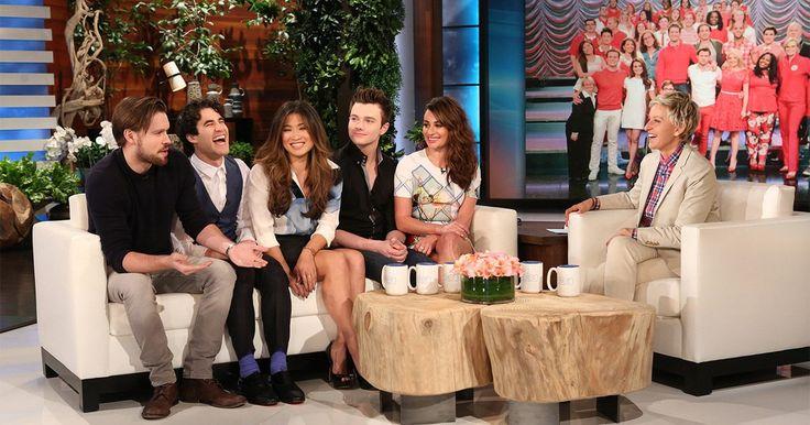 Glee cast on The Ellen DeGeneres Show