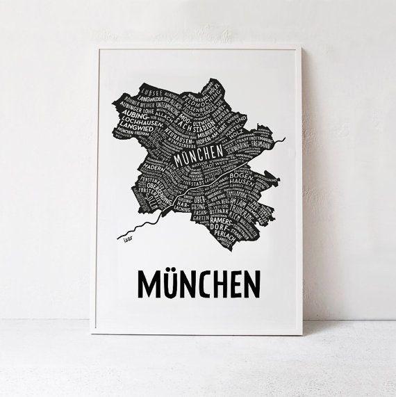 München München München Citymap Deutschland Karte Grafik