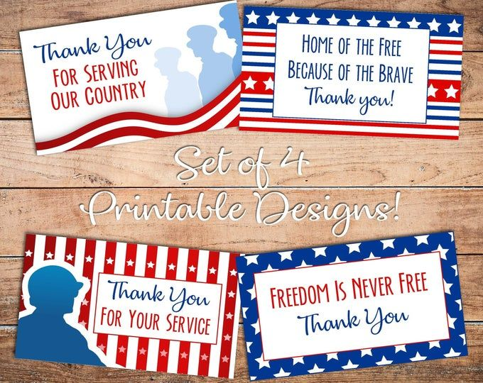Thank You Card, Patriotic Thank You, Guy Card, Thanks