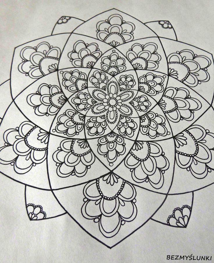 https://www.facebook.com/bezmyslunki/  #mandala #zentangle #india #drawing