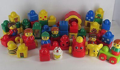 Lego Duplo Primo Lot of 47 Big Blocks Baby Cars Figures Animals   eBay