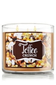 Bath and Body Works 3 wick candles -- Toffee Crunch 14.5 oz. 3-Wick Candle - Slatkin & Co. - Bath & Body Works