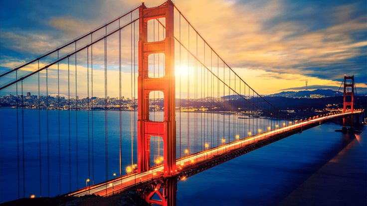 The Golden Gate Bridge - the pearl of the city San Francisco. Today, I invite you in a walk on the famous bridge Golden Gate in San Francisco