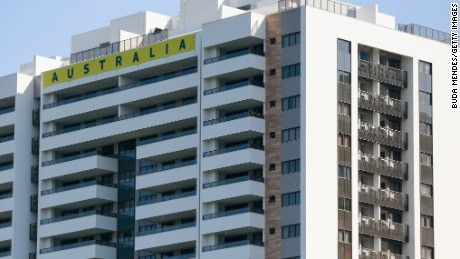 The Australian team reported items had been stolen from their building in Rio's Olympic Village including Zika-protective shirts during the 30-minute evacuation.