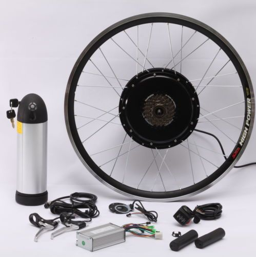 Electric Bicycle Motor Kit With Battery In India: 36V 500W Electric Bike Bicycle Motor Conversion Kit With