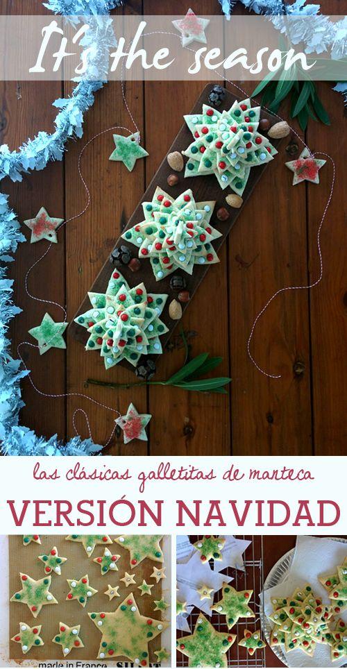 Una manera original de decorar la mesa navideña, con galletitas apiladas en forma de arbolito! #navidad #galletitas #decoracion #mesanavideña